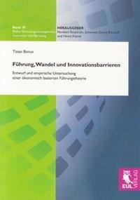 Abbildung von Bonus | Führung, Wandel und Innovationsbarrieren | 2009