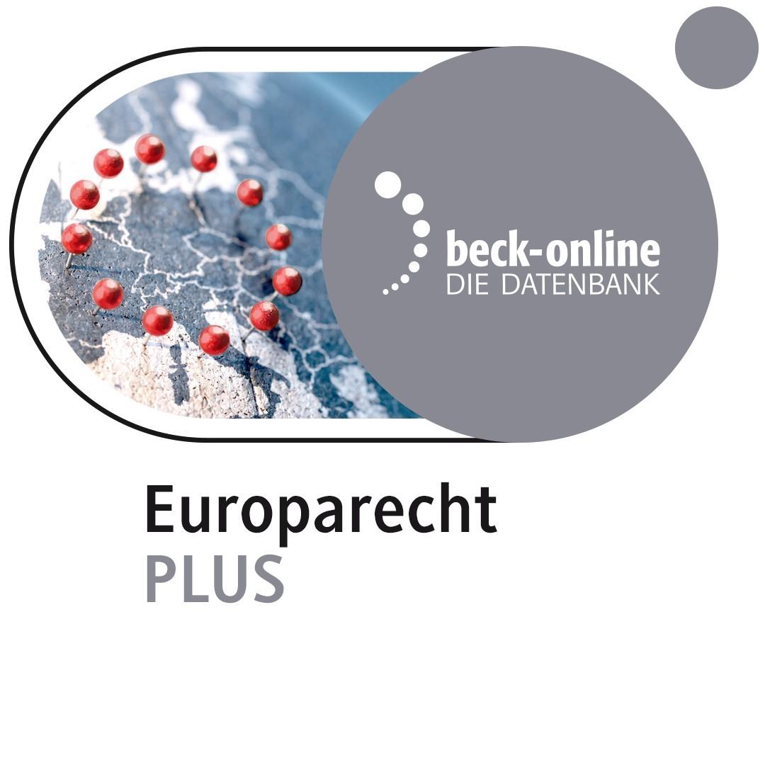 Abbildung von beck-online. Europarecht PLUS