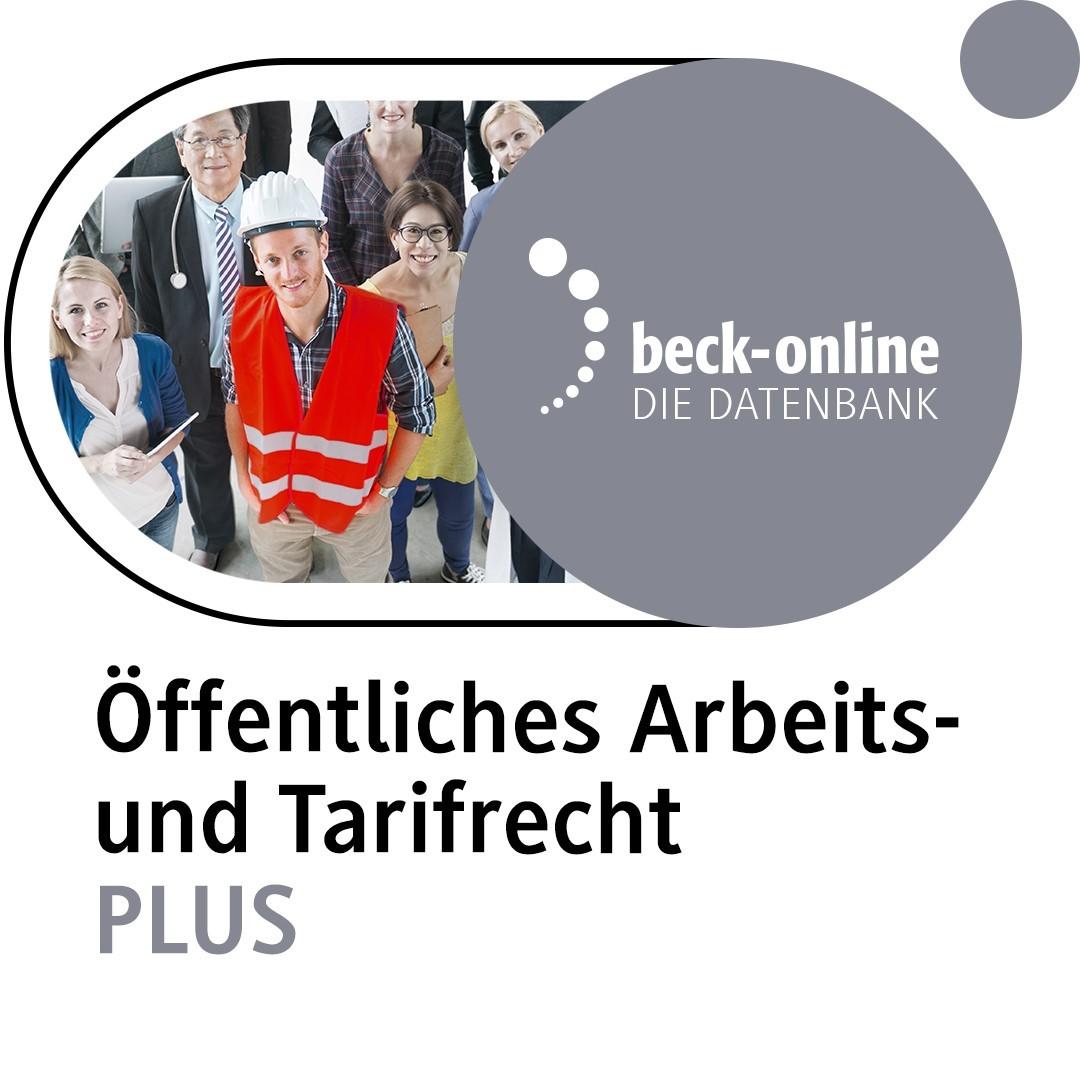 beck-online. Öffentliches Tarifrecht PLUS (Cover)