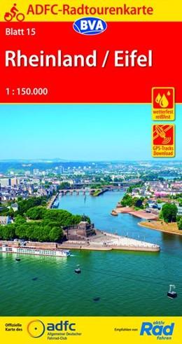 Abbildung von ADFC-Radtourenkarte 15 Rheinland /Eifel 1:150.000, reiß- und wetterfest, GPS-Tracks Download | 14. Auflage | 2019 | beck-shop.de