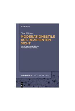 Abbildung von Böhme | Moderationsstile aus Rezipientensicht | 2019 | Ein metalinguistisches Beschre... | 21