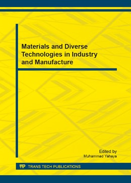 Abbildung von Yahaya | Materials and Diverse Technologies in Industry and Manufacture | 2013 | Volume 376