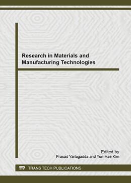 Abbildung von Yarlagadda / Kim   Research in Materials and Manufacturing Technologies   2014   Volumes 834-836