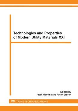 Abbildung von Mendala / Gradon   Technologies and Properties of Modern Utility Materials XXI   2014   Volume 212