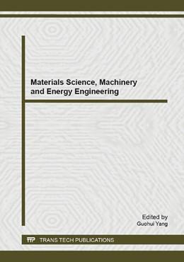 Abbildung von Yang   Materials Science, Machinery and Energy Engineering   2014   Volume 853
