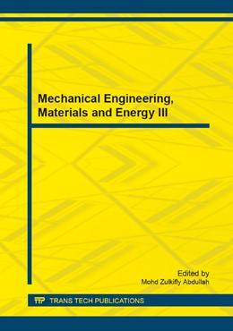 Abbildung von Abdullah | Mechanical Engineering, Materials and Energy III | 2014 | Volume 483