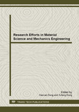 Abbildung von Deng / Dong | Research Efforts in Material Science and Mechanics Engineering | 1. Auflage | 2013 | Volume 681 | beck-shop.de