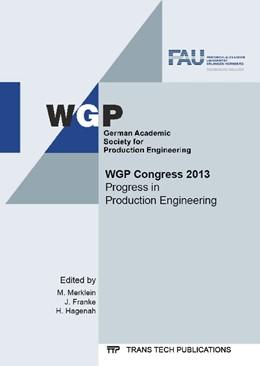 Abbildung von Merklein / Franke / Hagenah | WGP Congress 2013 | 2013 | Volume 769