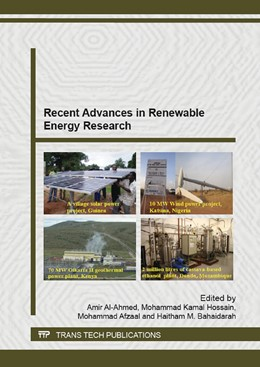 Abbildung von Al-Ahmed / Hossain / Afzaal / Bahaidarah | Recent Advances in Renewable Energy Research | 2015 | Volume 1116