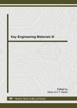 Abbildung von Abdul Amir   Key Engineering Materials III   2013   Volume 701