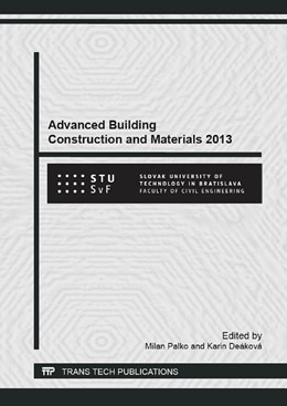 Abbildung von Palko / De?kov? | Advanced Building Construction and Materials 2013 | 1. Auflage | 2014 | Volume 855 | beck-shop.de