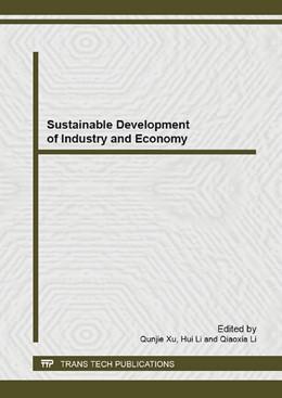 Abbildung von Xu / Li | Sustainable Development of Industry and Economy | 2014 | Volumes 869-870