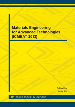 Abbildung von Wu | Materials Engineering for Advanced Technologies (ICMEAT 2013) | 2014 | Volume 510