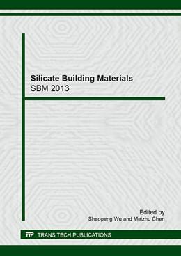 Abbildung von Wu / Chen | Silicate Building Materials | 2014 | Volume 599