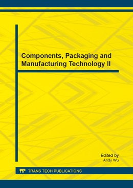 Abbildung von Wu | Components, Packaging and Manufacturing Technology II | 2014 | Volume 509