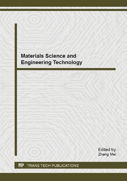 Abbildung von Mei | Materials Science and Engineering Technology | 2014 | Volume 936