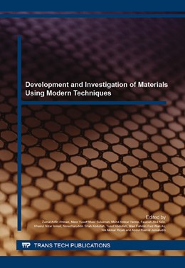 Abbildung von Ahmad / Sulaiman | Development and Investigation of Materials Using Modern Techniques | 1. Auflage | 2016 | Volume 840 | beck-shop.de