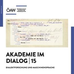 Abbildung von Akademie im Dialog 15 | 2019 | Dialektforschung und Maschinen... | 15