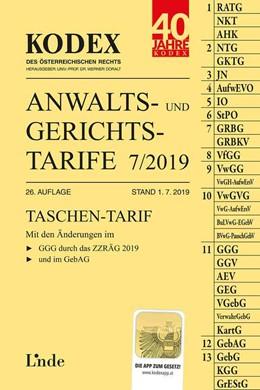 Abbildung von Dokalik / Doralt | KODEX Anwalts- und Gerichtstarife 7/2019 | 26. Auflage 2019, Stand 1.7.2019 | 2019
