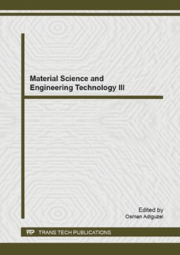 Abbildung von Adiguzel | Material Science and Engineering Technology III | 2015 | Volume 1101