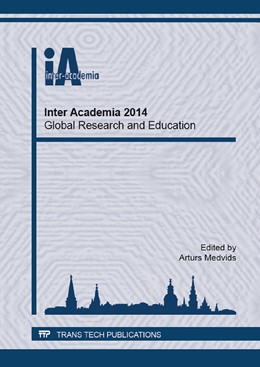 Abbildung von Medvids   Inter Academia 2014 - Global Research and Education   2015   Volume 1117