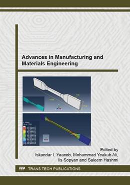 Abbildung von Yaacob / Mohammad / Sopyan / Hashmi | Advances in Manufacturing and Materials Engineering | 2015 | Volume 1115