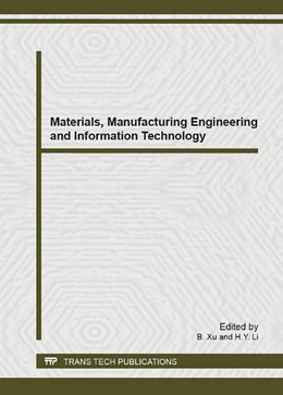 Abbildung von Xu / Li   Materials, Manufacturing Engineering and Information Technology   2014   Volume 910
