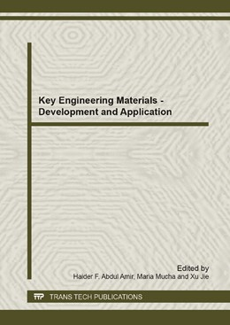 Abbildung von Abdul Amir / Mucha / Jie | Key Engineering Materials - Development and Application | 2014 | Volume 911