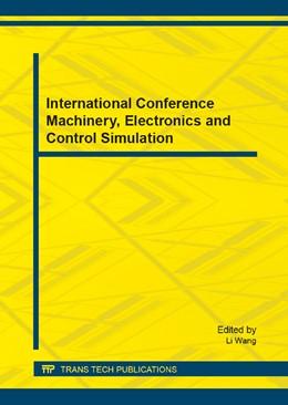 Abbildung von Wang   International Conference Machinery, Electronics and Control Simulation   1. Auflage   2014   Volume 614   beck-shop.de