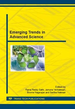 Abbildung von Rama Reddy / Jamuna   Emerging Trends in Advanced Science   1. Auflage   2014   Volume 622   beck-shop.de