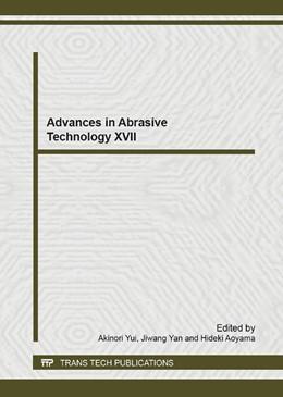 Abbildung von Yui / Yan / Aoyama   Advances in Abrasive Technology XVII   2014   Volume 1017