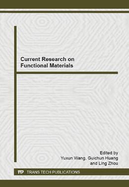 Abbildung von Wang / Huang   Current Research on Functional Materials   1. Auflage   2014   Volume 1053   beck-shop.de