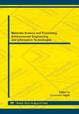 Abbildung von Hegde | Materials Science and Processing, Environmental Engineering and Information Technologies | 1. Auflage | 2014 | Volume 665 | beck-shop.de