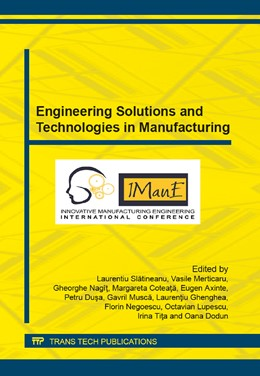 Abbildung von Slatineanu / Merticaru   Engineering Solutions and Technologies in Manufacturing   1. Auflage   2014   Volume 657   beck-shop.de
