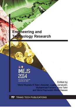 Abbildung von Al Bakri Abdullah / Jamaludin / Mohd Tahir / Mohd Hassan | Engineering and Technology Research | 2014 | Volume 679