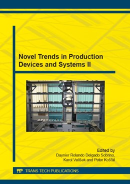 Abbildung von Delgado Sobrino / Vel?ek   Novel Trends in Production Devices and Systems II   1. Auflage   2014   Volume 693   beck-shop.de