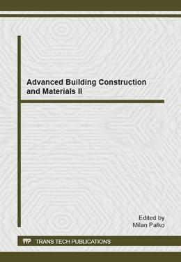 Abbildung von Palko   Advanced Building Construction and Materials II   1. Auflage   2014   Volume 1057   beck-shop.de