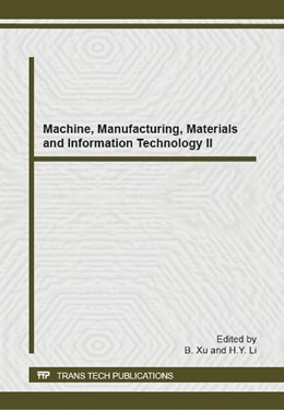 Abbildung von Xu / Li   Machine, Manufacturing, Materials and Information Technology II   2014   Volume 1056