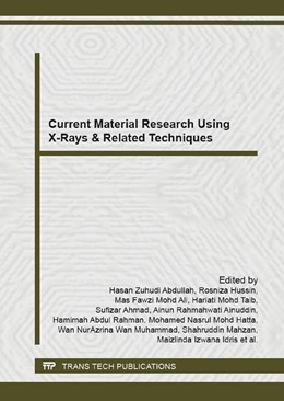 Abbildung von Abdullah / Hussin | Current Material Research Using X-Rays & Related Techniques | 1. Auflage | 2015 | Volume 1087 | beck-shop.de