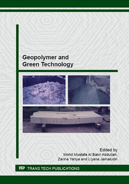 Abbildung von Al Bakri Abdullah / Yahya | Geopolymer and Green Technology | 1. Auflage | 2016 | Volume 673 | beck-shop.de