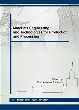 Abbildung von Radionov | Materials Engineering and Technologies for Production and Processing | 1. Auflage | 2016 | Volume 843 | beck-shop.de