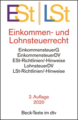 Abbildung von Einkommen- / Lohnsteuerrecht: ESt / LSt | 2. Auflage | 2020 | 5785 | beck-shop.de