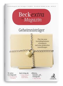 Abbildung von Beck extra Das Magazin • Heft 2/2019 | 2019 | Kundenmagazin des Verlages C.H...