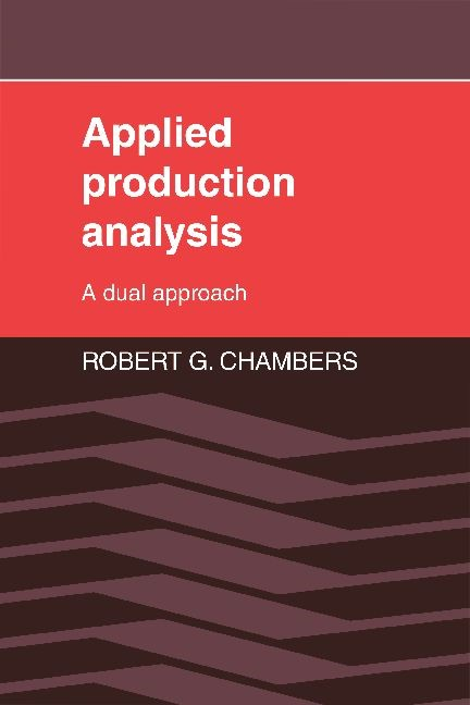 Applied Production Analysis | Chambers, 1988 (Cover)