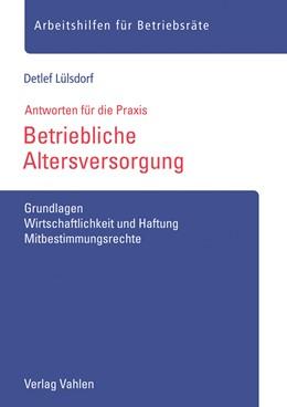 Abbildung von Lülsdorf | Betriebliche Altersversorgung | 1. Auflage | 2019 | beck-shop.de