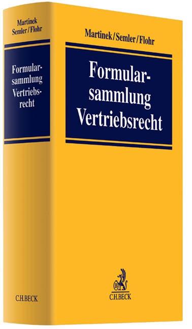 Formularsammlung Vertriebsrecht | Martinek / Semler / Flohr | Buch (Cover)