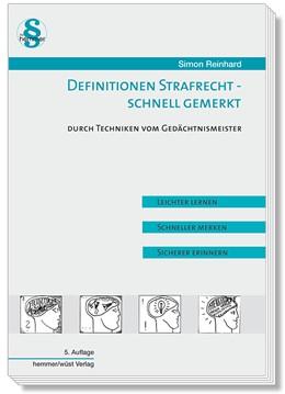 Abbildung von Simon   Definitionen Strafrecht - Schnell gemerkt   5. Auflage   2019   beck-shop.de