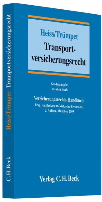 Abbildung von Heiss / Trümper   Transportversicherungsrecht   2009