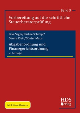 Abbildung von Sager / Schimpf / Klein | Abgabenordnung und Finanzgerichtsordnung | 2. Auflage | 2020 | Vorbereitung auf die schriftli...