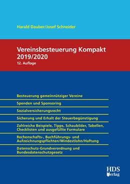 Abbildung von Dauber / Schneider | Vereinsbesteuerung Kompakt 2019/2020 | 12. Auflage | 2020